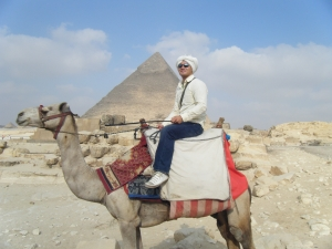 Travel Notes: Electrons, Pyramids, and Camels